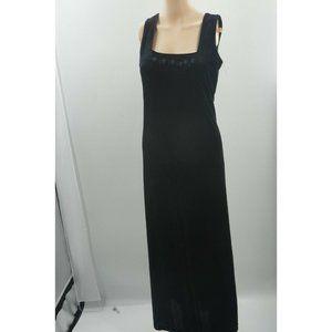 Liz Claiborne Liz & Co Black Sleeveless Velvet Squ